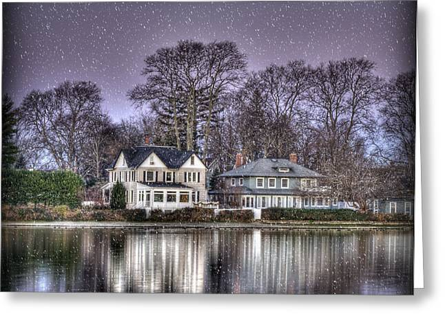 Hdr Landscape Greeting Cards - Purple Snow Greeting Card by Vicki Jauron