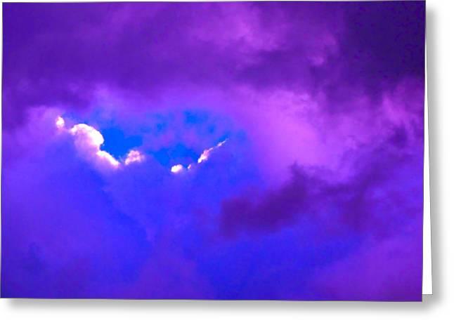 Purple Storm Greeting Card by Gwyn Newcombe