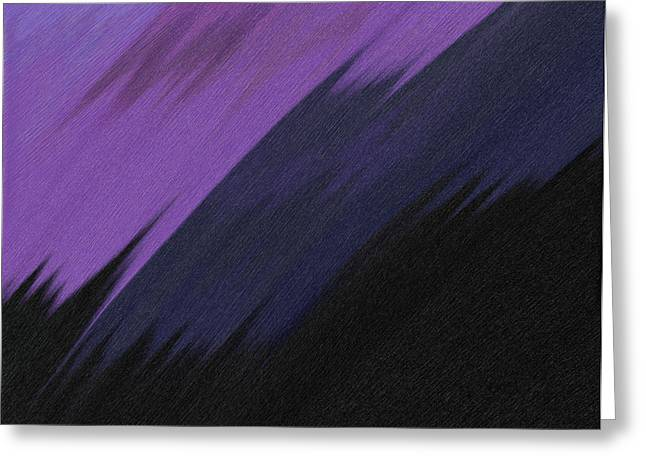 Purple Sunrise Greeting Card by Lance  Kelly