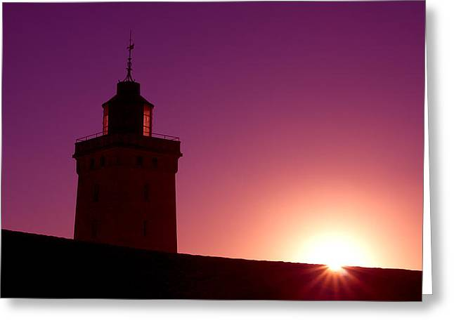 Atlantik Greeting Cards - Purple Sunset Greeting Card by Thomas Splietker