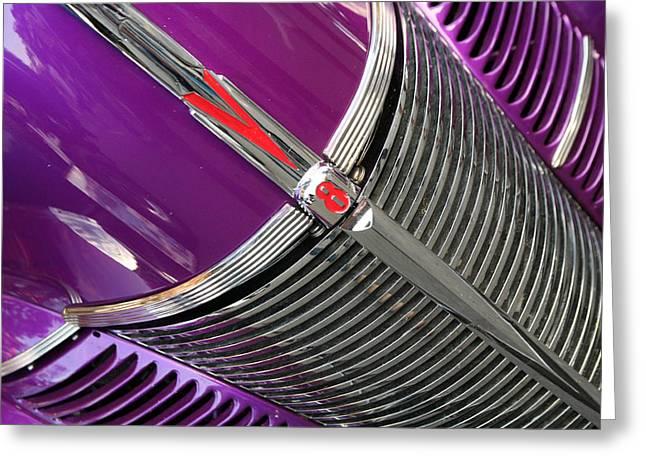 Purple V8 Greeting Cards - Purple V8 Greeting Card by Richard Migot