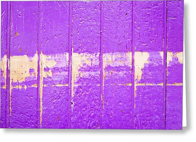 Purple Wood Greeting Card by Tom Gowanlock