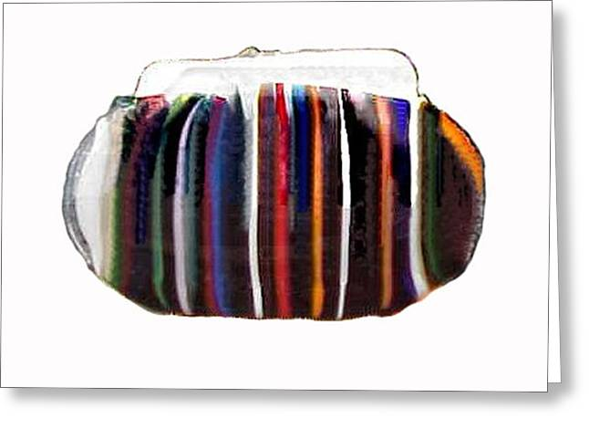 Glass Art Greeting Cards - Purse Greeting Card by Sarah King