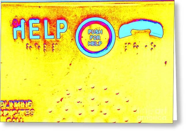 Humorous Gallery Wrap Greeting Cards - Push Hard Greeting Card by Joe Jake Pratt