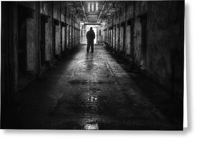 Penitentiary Greeting Cards - Put My Name On The Walk Of Shame Greeting Card by Evelina Kremsdorf