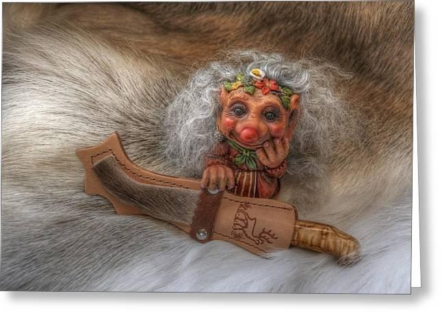 Puukko Troll Greeting Card by Merja Waters