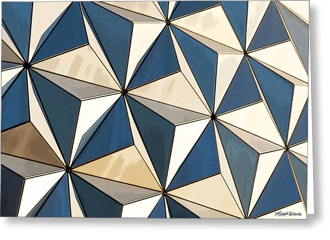 Epcot Greeting Cards - Puzzle of Life on Earth Greeting Card by Michelle Wiarda