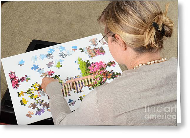 Spatial Skills Greeting Cards - Puzzle Therapy Greeting Card by Photo Researchers, Inc.