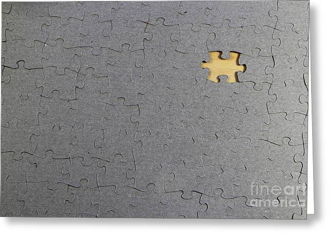 Missing Greeting Cards - Puzzle With A Missing Piece Greeting Card by Photo Researchers, Inc.