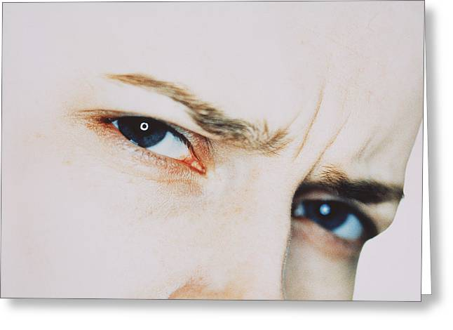 Eyebrow Greeting Cards - Puzzled Woman Greeting Card by Cristina Pedrazzini