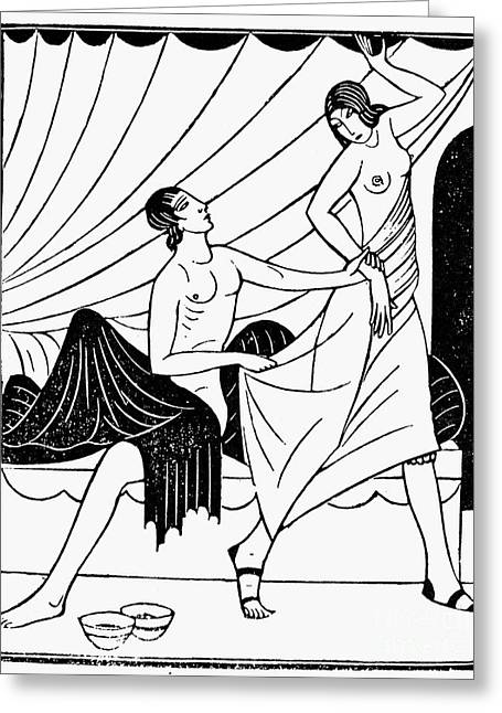 Galatea Greeting Cards - Pygmalion And Galatea Greeting Card by Granger