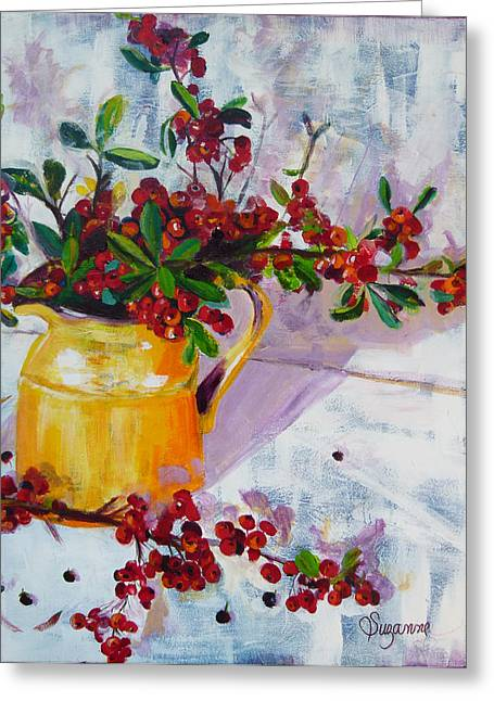 Pyracatha Pitcher Picture Greeting Card by Suzanne Willis