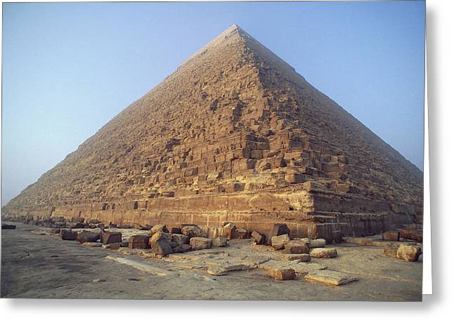 Pyramids Greeting Cards - Pyramid At Giza During The Day, Egypt Greeting Card by Damien Lovegrove