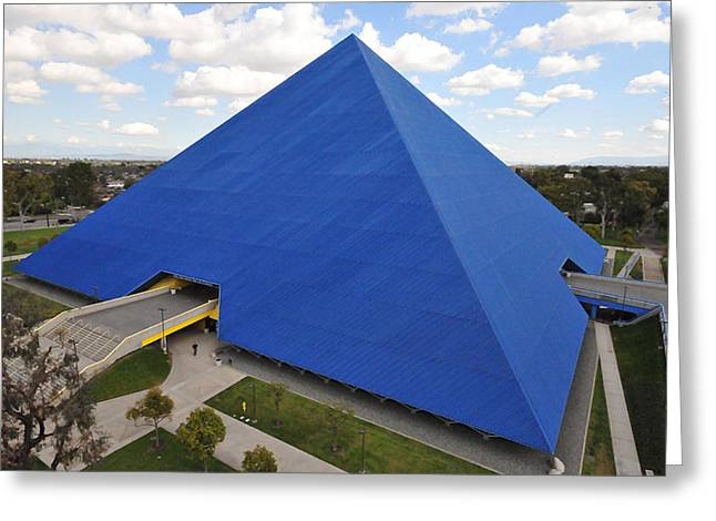 Csu Greeting Cards - Pyramid I - Calfornia State University Long Beach Greeting Card by Michael  Kitahara