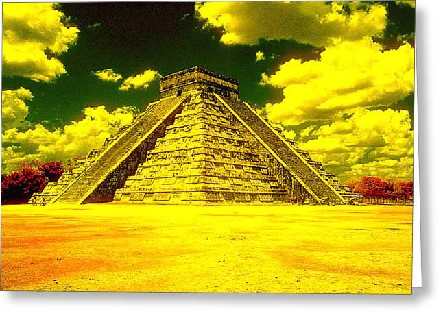 Leori Gill Greeting Cards - Pyramid Greeting Card by Leori Gill