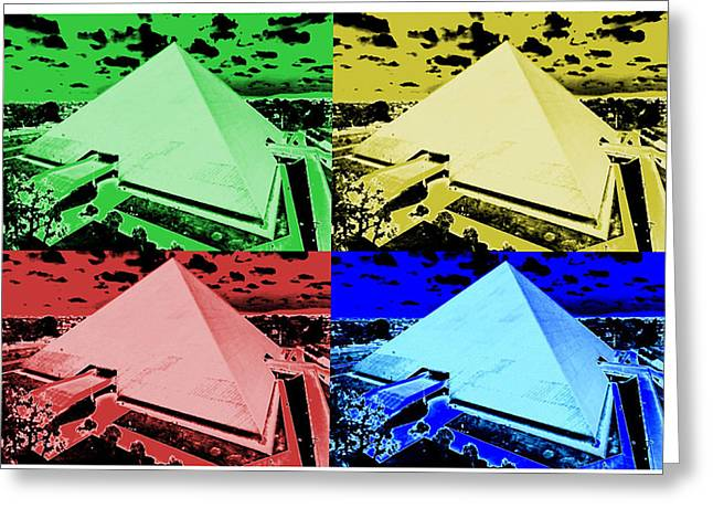 Csu Greeting Cards - Pyramid Montage - California State University Long Beach Greeting Card by Michael  Kitahara