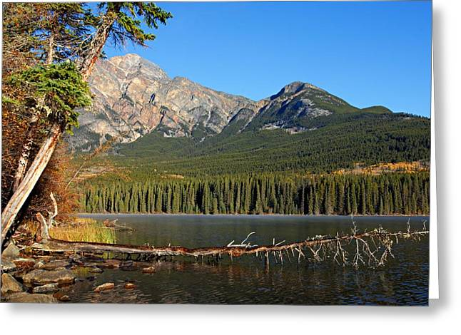Pyramid Mountain Greeting Cards - Pyramid Mountain in the Morning Greeting Card by Larry Ricker
