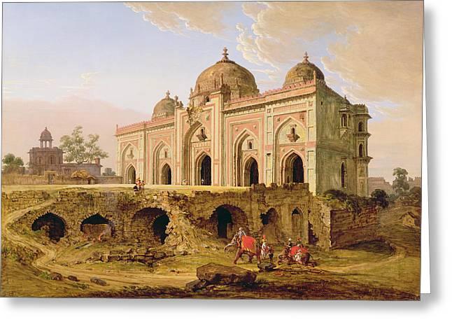 Oil Dome Greeting Cards - Qal A-l-Kuhna Masjid - Purana Qila Greeting Card by Robert Smith