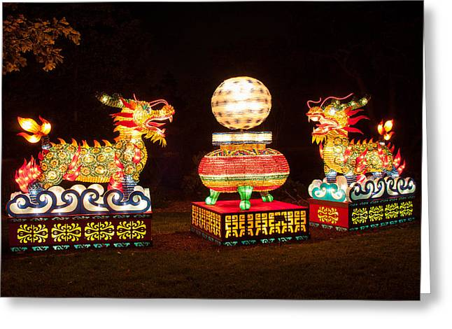 Installation Art Greeting Cards - Qilin Greeting Card by Semmick Photo