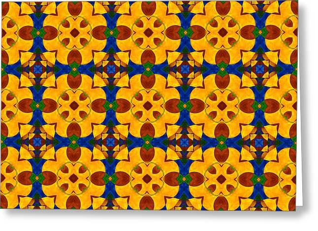 Quadrichrome 13 Symmetry Greeting Card by Hakon Soreide