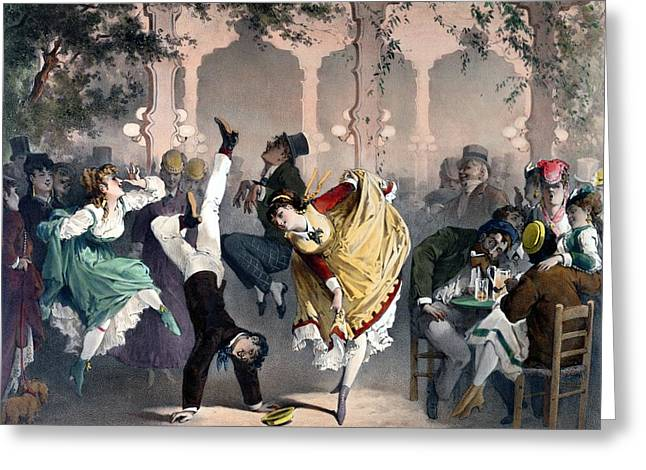 Quadrille At The Bal Bullier Greeting Card by G Barry