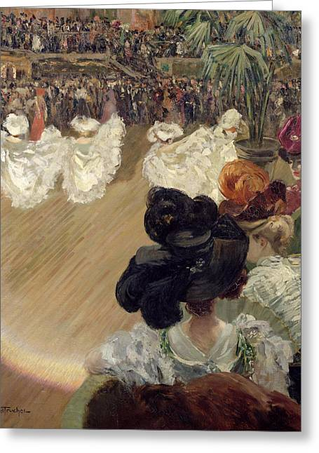 Showgirls Greeting Cards - Quadrille at the Bal Tabarin Greeting Card by Abel-Truchet