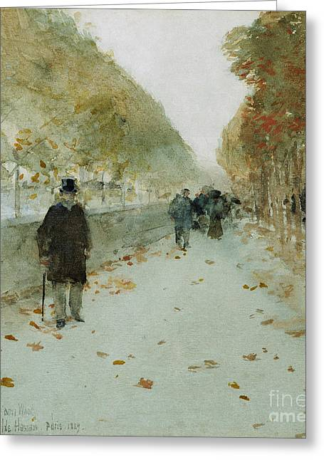 Childe Greeting Cards - Quai du Louvre Greeting Card by Childe Hassam
