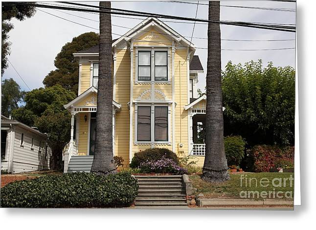 Quaint House Architecture - Benicia California - 5d18591 Greeting Card by Wingsdomain Art and Photography