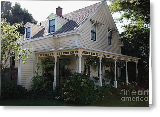 Quaint House Architecture - Benicia California - 5D18793 Greeting Card by Wingsdomain Art and Photography