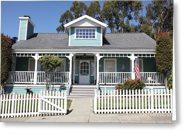 Quaint House Architecture - Benicia California - 5d18817 Greeting Card by Wingsdomain Art and Photography