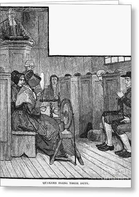 Quaker Meeting Greeting Card by Granger