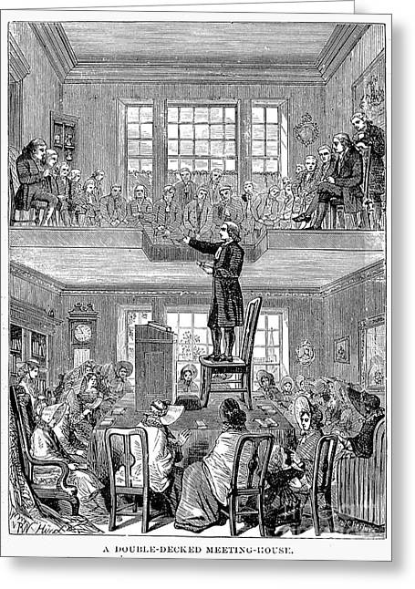 Quaker Greeting Cards - Quaker Meeting House Greeting Card by Granger