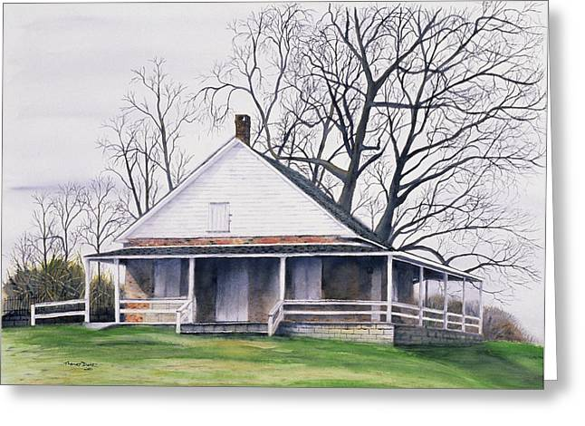 Quaker Paintings Greeting Cards - Quaker Meeting House Greeting Card by Tom Dorsz