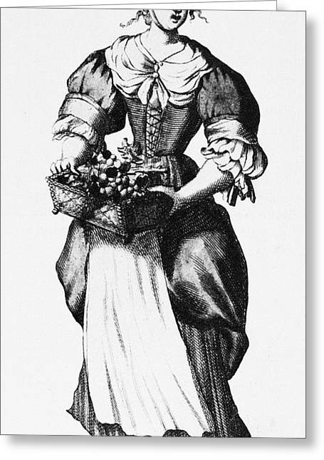 Apron Greeting Cards - QUAKER WOMAN, 17th CENTURY Greeting Card by Granger