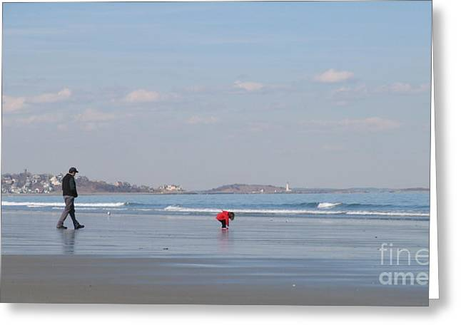 Hull Ma Greeting Cards - Quality Time Greeting Card by Laura Lee Zanghetti