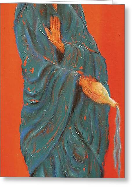 Boddhisatva Greeting Cards - Quan Yin Pouring Greeting Card by Suzan  Sommers