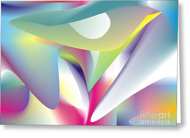 Irregular Forms Greeting Cards - Quantum Landscape 5 Greeting Card by Walter Oliver Neal