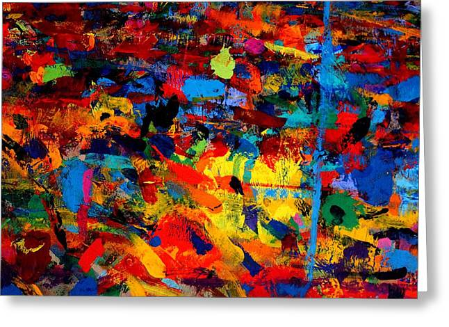 Abstract Painter Greeting Cards - Quantum Leap Greeting Card by John  Nolan