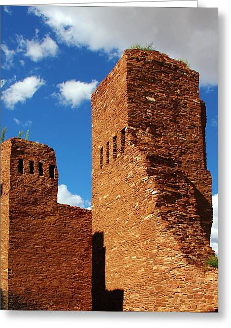 Franciscans Greeting Cards - Quarai Salinas Pueblo Missions National Monument Greeting Card by Christine Till