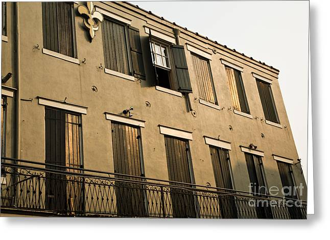 Leslie Leda Greeting Cards - Quarter Balcony Greeting Card by Leslie Leda