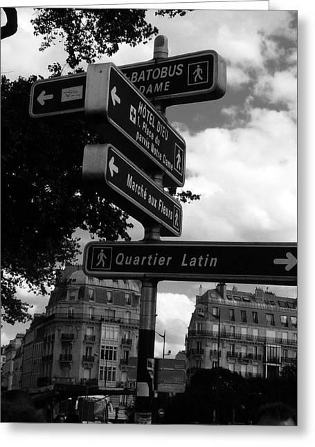Quartier Greeting Cards - Quartier Latin Greeting Card by Rdr Creative
