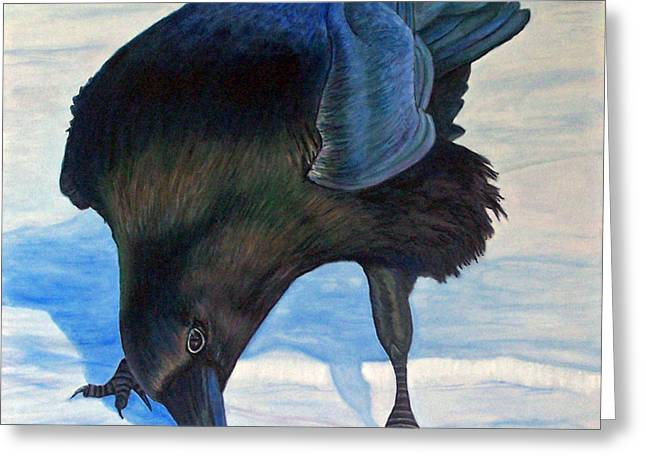 Raven Greeting Cards - Que Pasa Greeting Card by Brian  Commerford