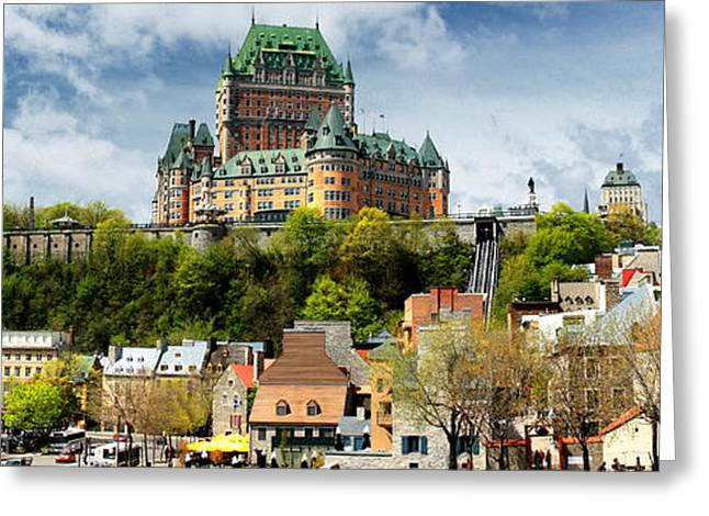 Quebec City Greeting Card by Photography Art
