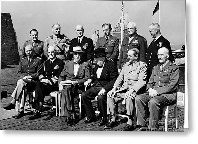 1944 Greeting Cards - Quebec Conference, 1944 Greeting Card by Granger