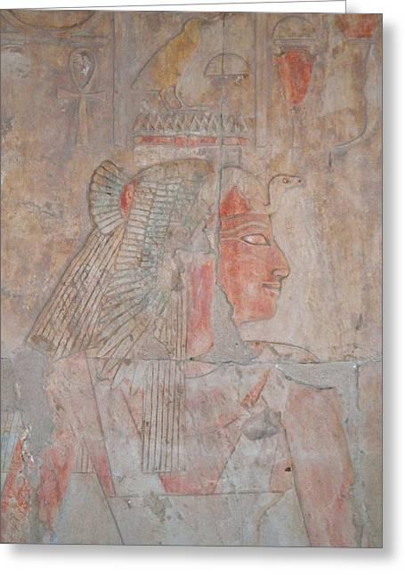 Hathor Greeting Cards - Queen Ahmose Greeting Card by Richard Deurer