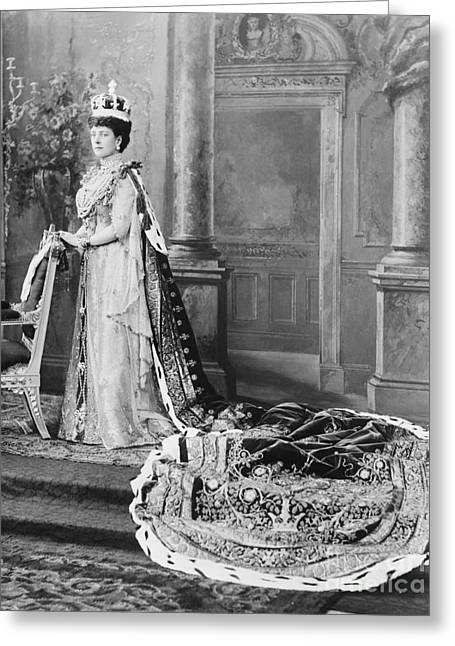 Charlotte Photographs Greeting Cards - Queen Alexandra, 1902 Greeting Card by Omikron