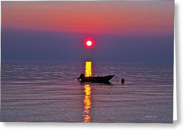 Queen Charlotte Strait Greeting Cards - Queen Charlotte Sunset Greeting Card by Michael Potts