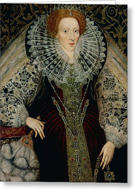 First-lady Greeting Cards - Queen Elizabeth I Greeting Card by John the Younger Bettes
