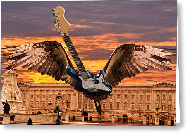 Buckingham Palace Digital Greeting Cards - Queen Greeting Card by Eric Kempson