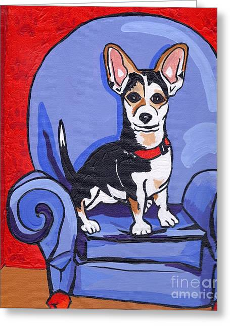 Animal Paw Print Greeting Cards - Queen Lucy Greeting Card by Laura Brightwood